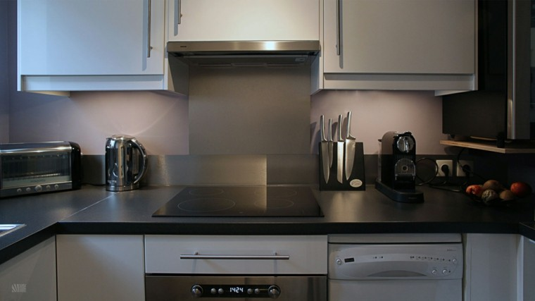 cocina mdoerna pintura color gris