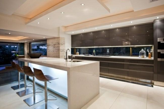 cocina moderna muebles marron