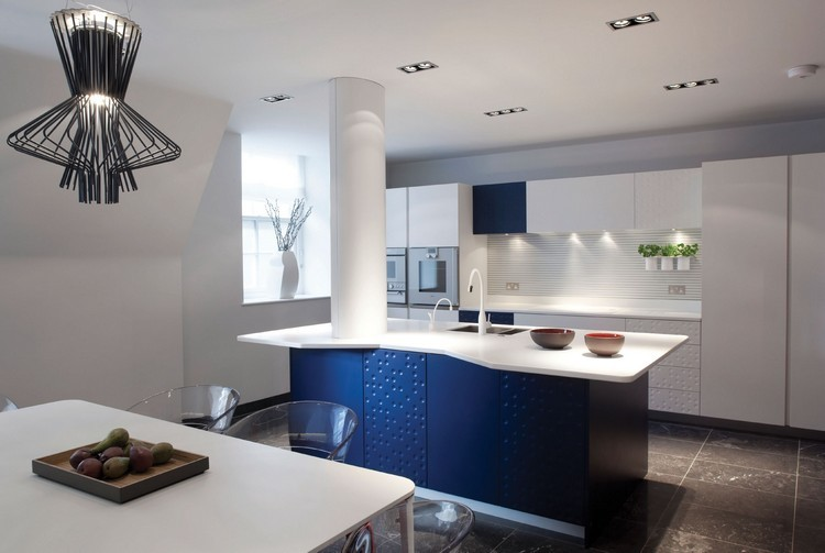 Cocinas Azules. Muebles Azules Cocina. Pared Azul Cocina. Cocina Con ...