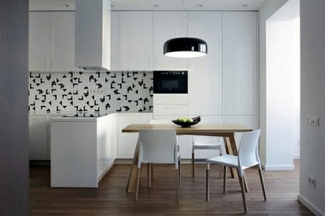 cocina moderna dibujos pollos pared