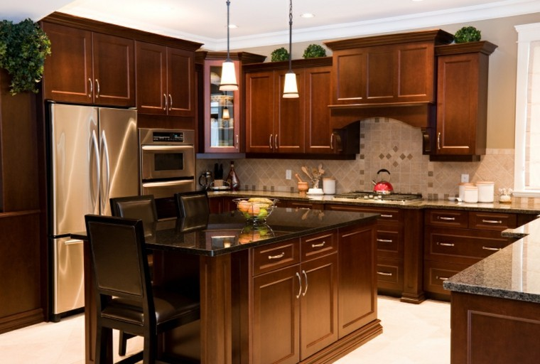 Cocina moderna en forma de u 50 ideas ultra originales - Cocinas clasicas elegantes ...