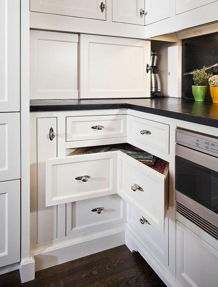 cocina moderna soluciones almacenamiento originales armario blanco ideas