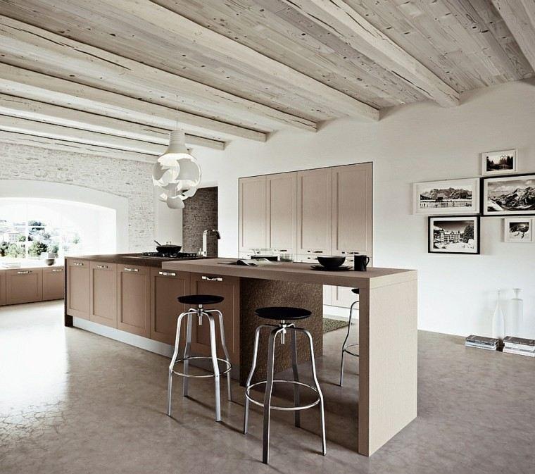Fotos de cocinas modernas dise o de cocinas - Cocina moderna madera ...