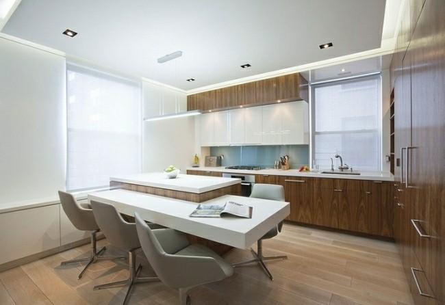 diseño cocina moderna toque retro
