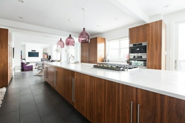 cocina moderna muebles laminados madera