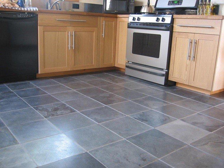 Mosaico losas y m s ideas para suelos en blanco y azul for Loseta para cocina