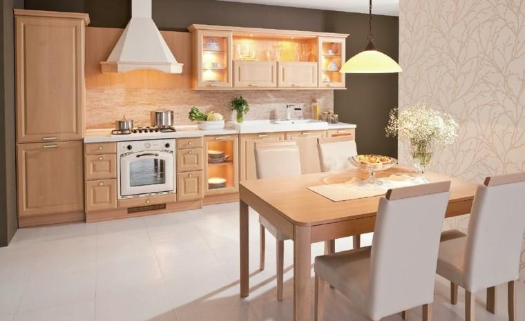 diseño cocina tradicional muebles roble