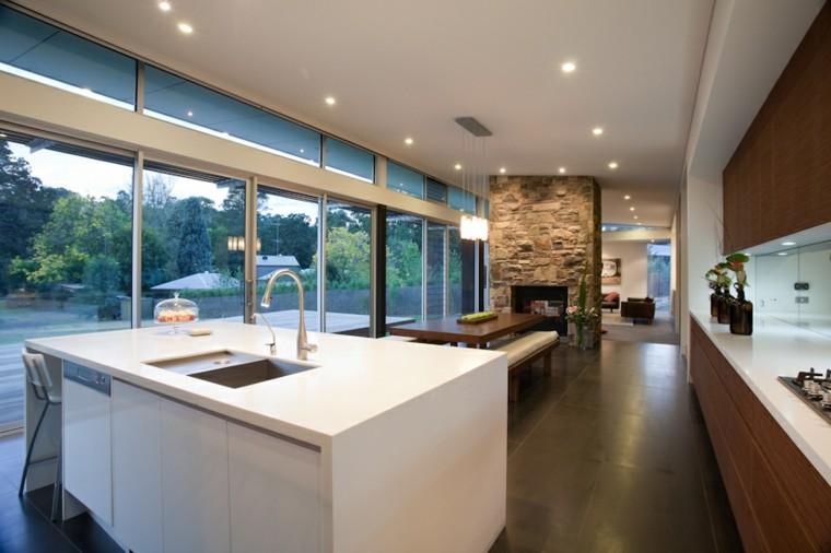 Fotos de cocinas modernas dise o de cocinas for Amueblar cocina alargada