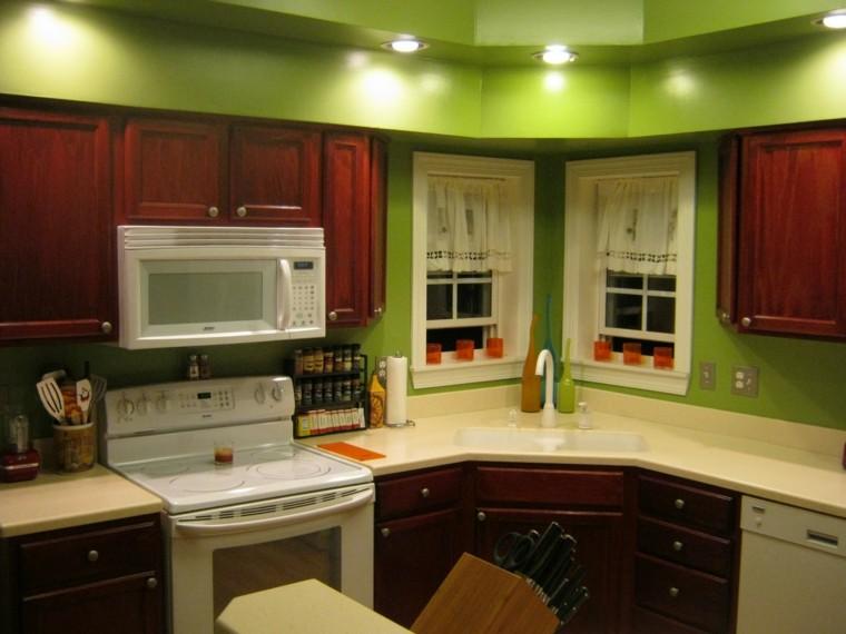 cocinas pintadas color verde