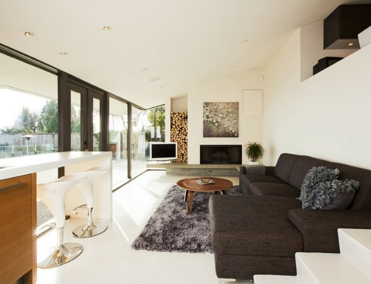 cojines casa alfombra sillon madera