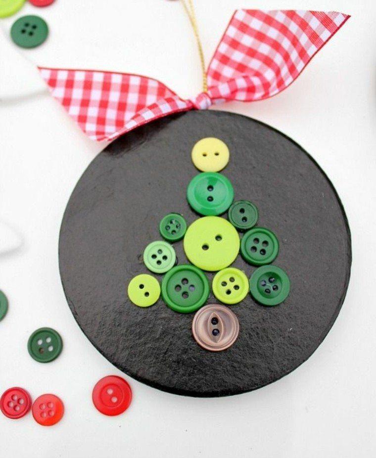 colgante botones colorido blanco lazo