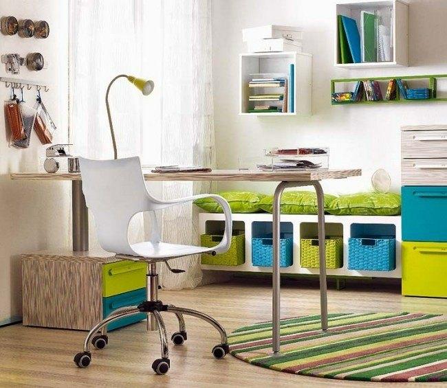 colores diseño dormitorio azul verde