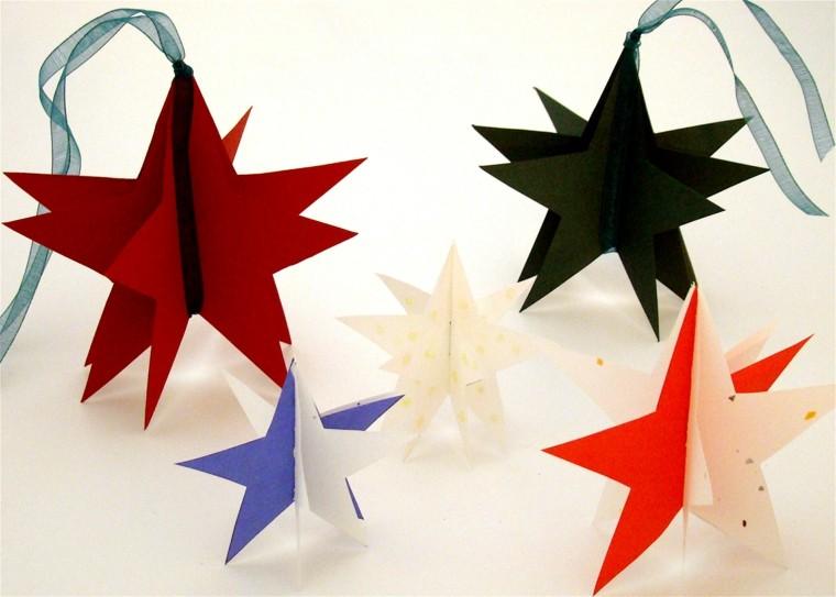 colores estrellas lazos colgantes colorido