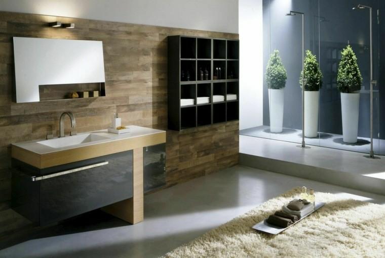 baño colores neutros diseño moderno