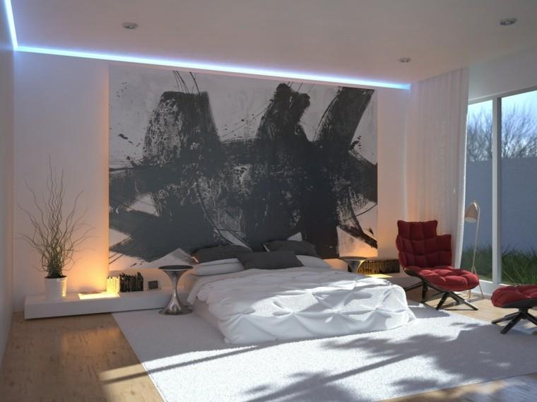 colores para habitaciones moderno cuadro led