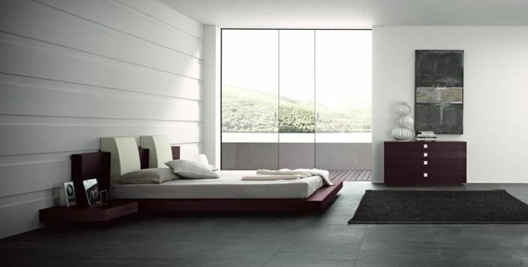 colores para habitaciones moderno minimalista cama