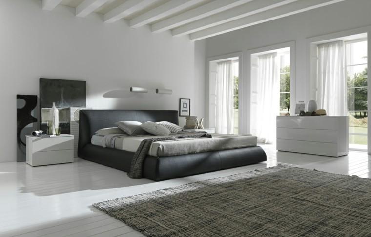 colores para habitaciones moderno negro cuadros