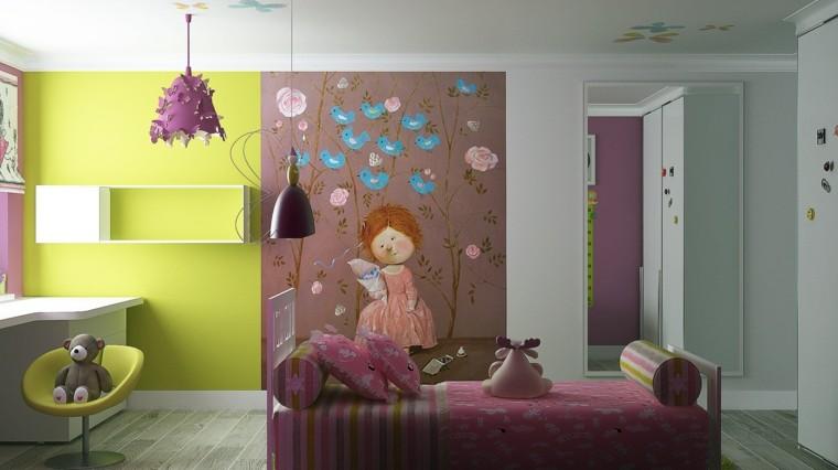 colorida oso niña infantil estilo rosa