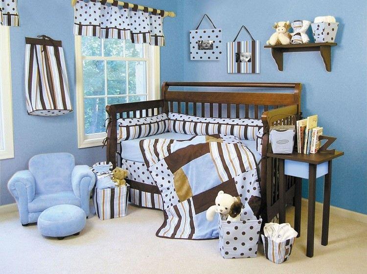 colorido azul estetica rayas marron