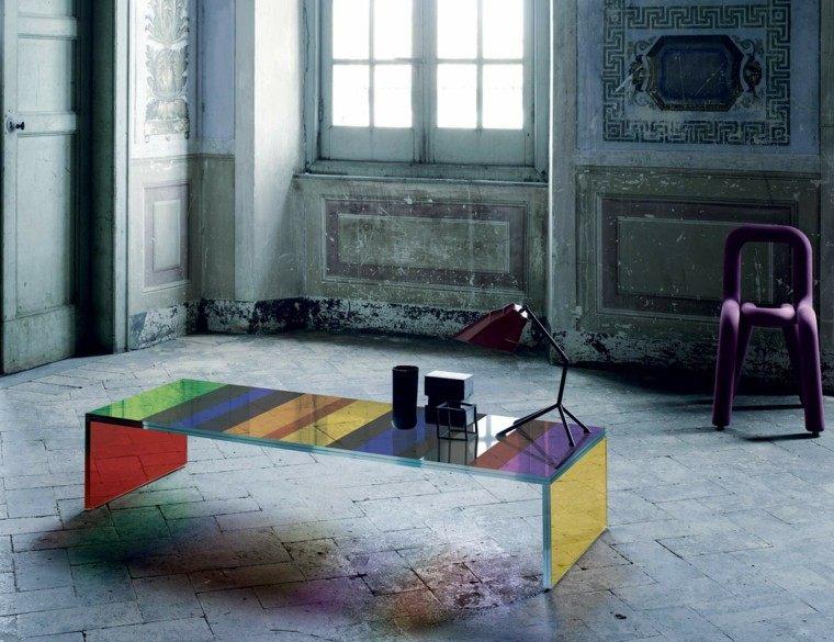 colorido rayas suelo mesa silla