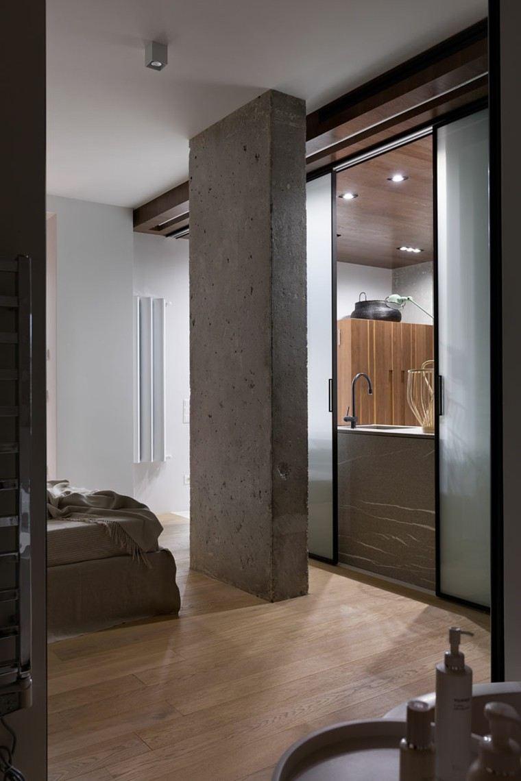 Cemento pulido o sin pulir para apartamentos modernos - Columnas decorativas interiores ...