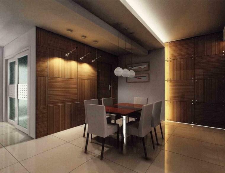 comedor moderno techo cemento