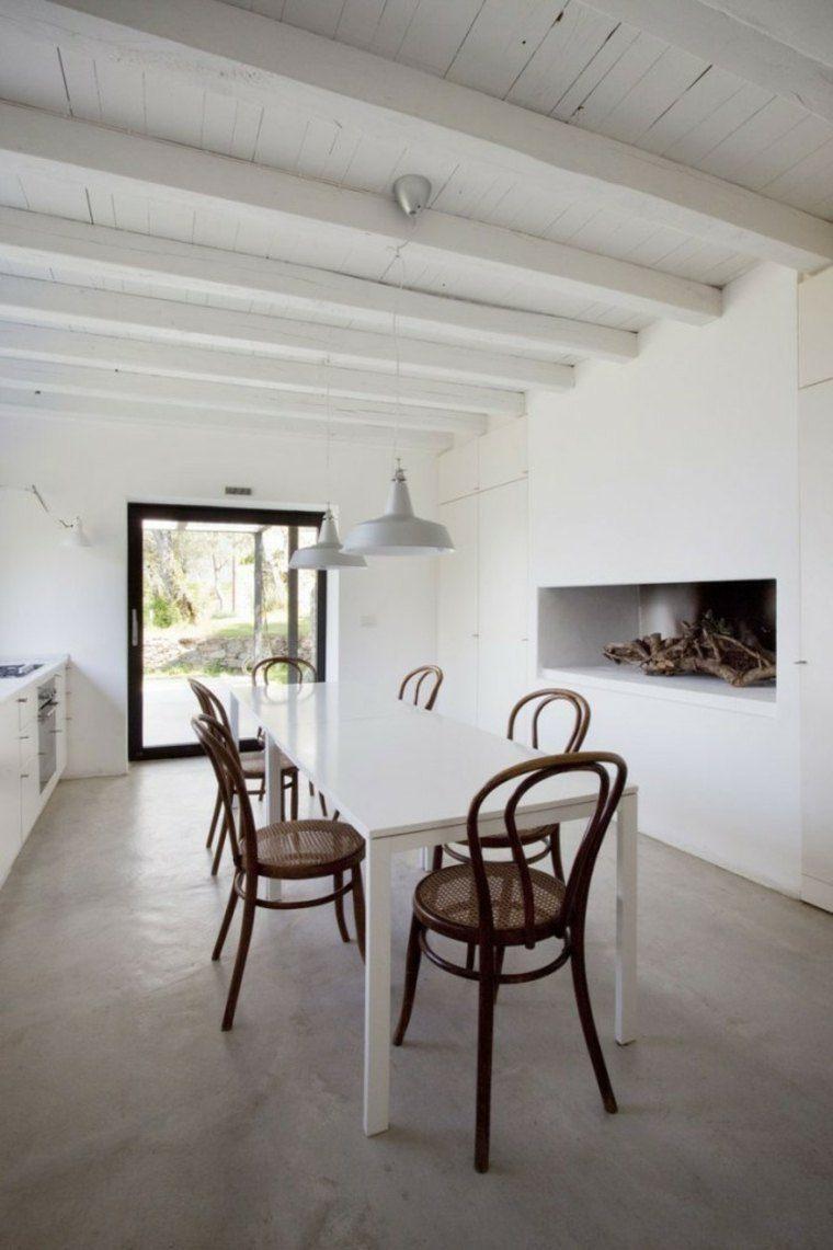 Cemento como tendencia de decoraci n para interiores for Mesa comedor hormigon