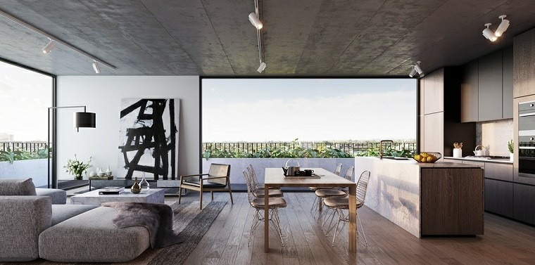 decoracion de comedores ideas para espacios abiertos modernos