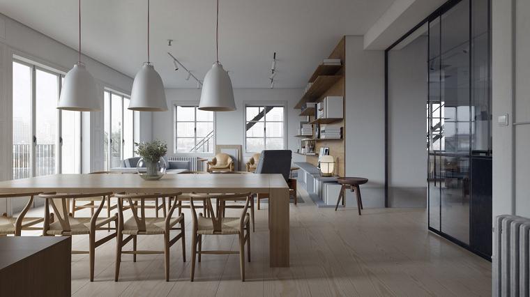 comedor moderno sillas madera mesita ideas