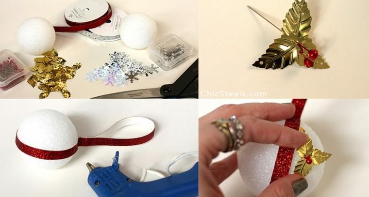 como hacer bolas navidad caseras