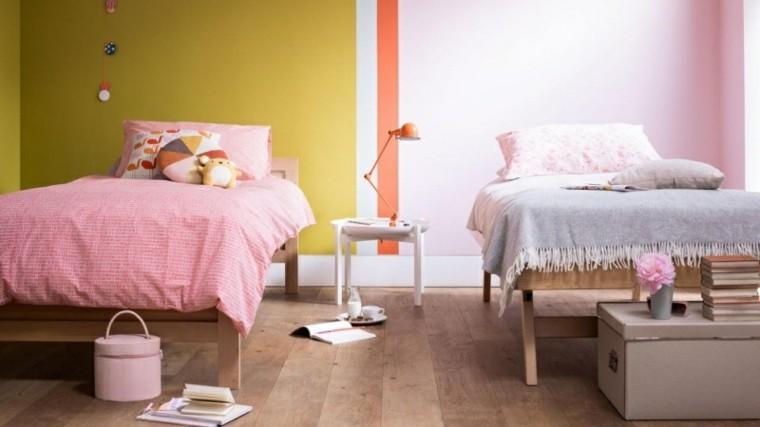 como pintar una habitacion estilo agradable rosa