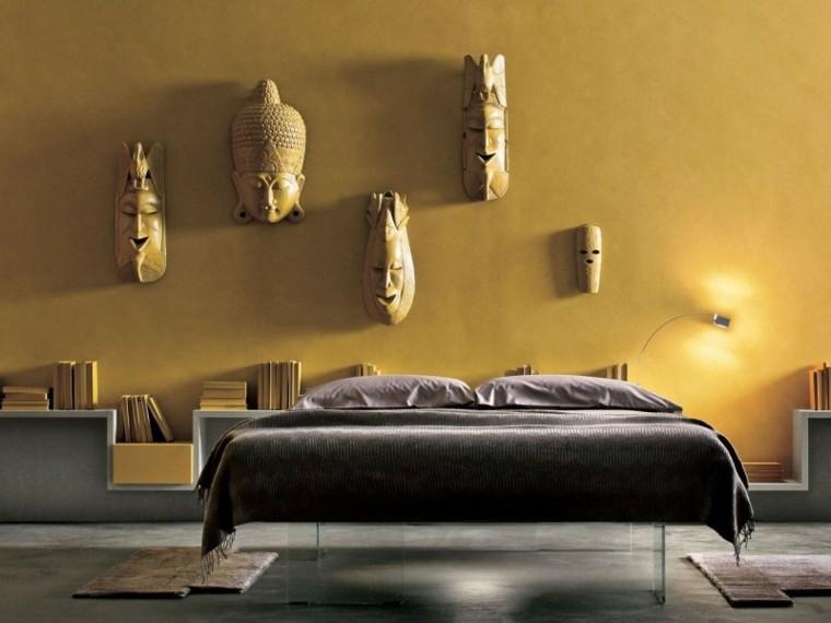 como pintar una habitacion mascaras contraste asia