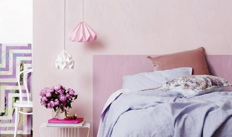 como pintar una habitacion rosa lamparas