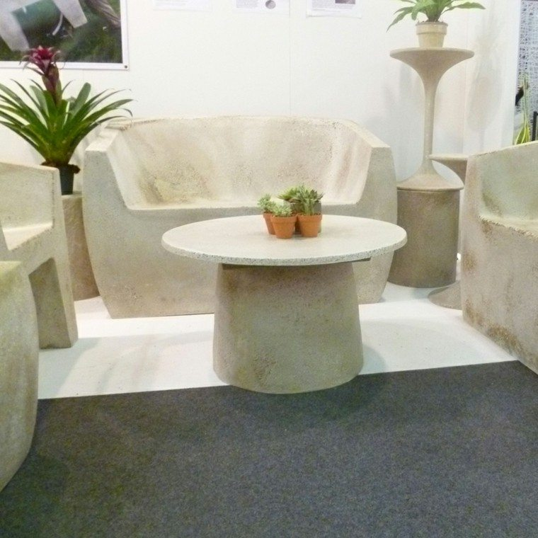 conjunto muebles cemento link fibra muebles