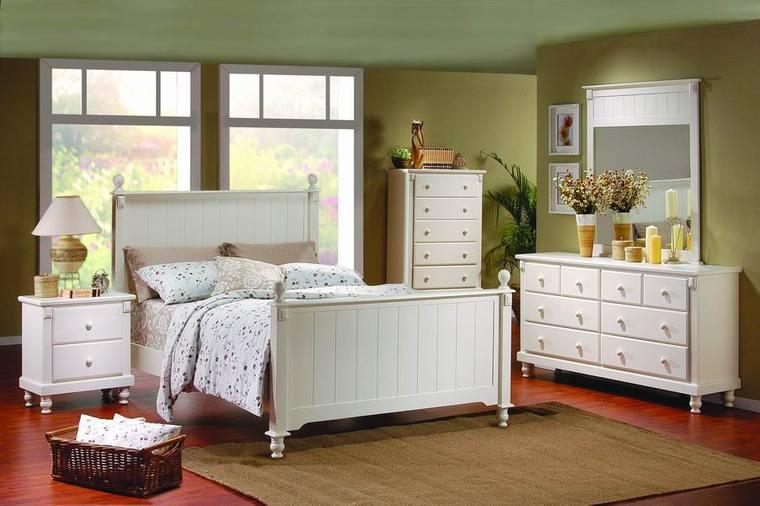 conjunto muebles dormitorio color blanco