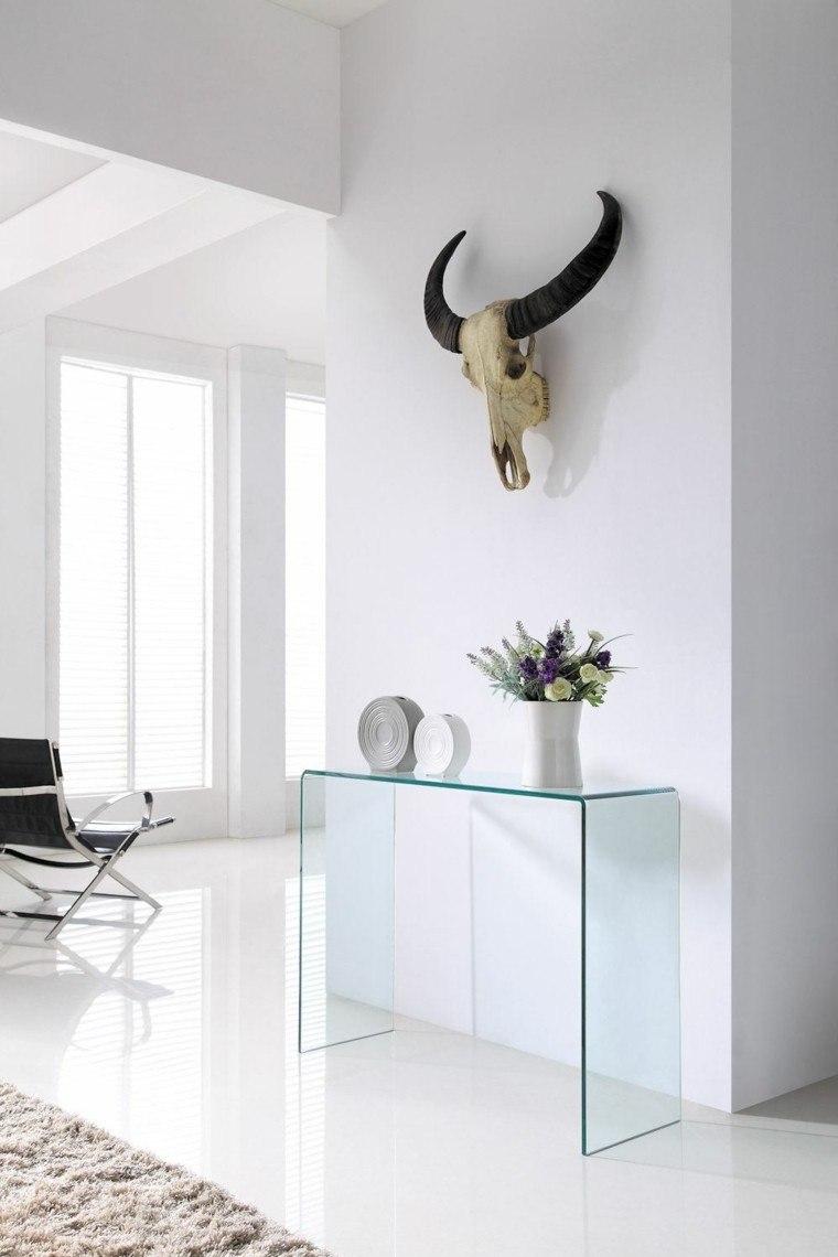 consolas vidrio craneo sillones toro