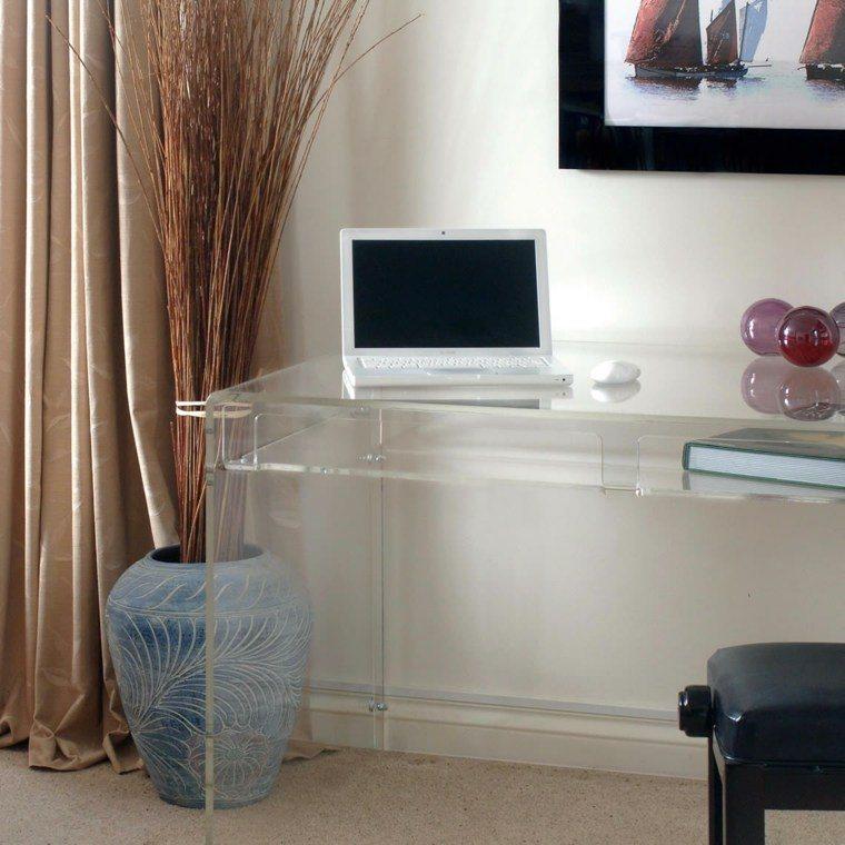 consolas de vidrio redescubriendo su utilidad en el hogar. Black Bedroom Furniture Sets. Home Design Ideas