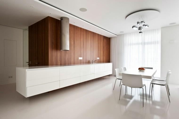 contraste madera suelo barra minimalista