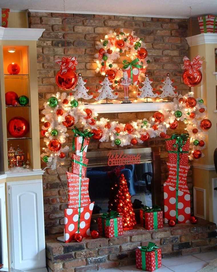 Coronas y guirnaldas de navidad cincuenta modelos for Decoraciones rusticas para navidad