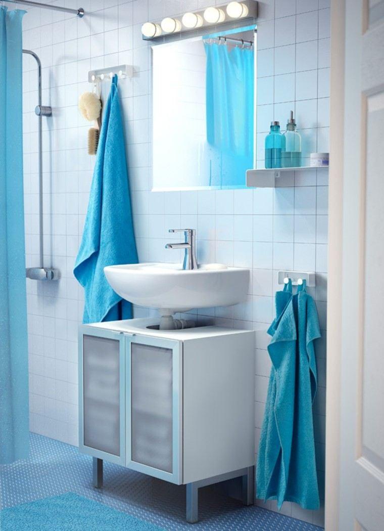 Cortinas de la cocina de color amarillo y gris - Cortina Ducha Color Azul Celeste