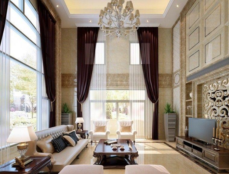 cortinas elegante casa clasico lujo