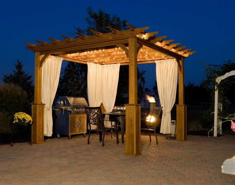 cortinas terraza fiesta madera pinos patio
