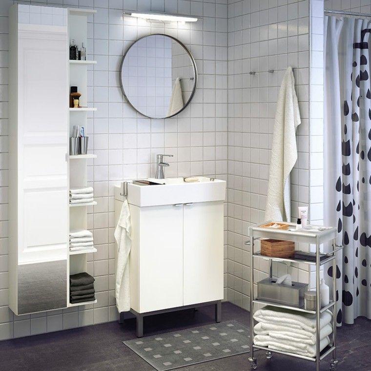 cortina baño blanco negro
