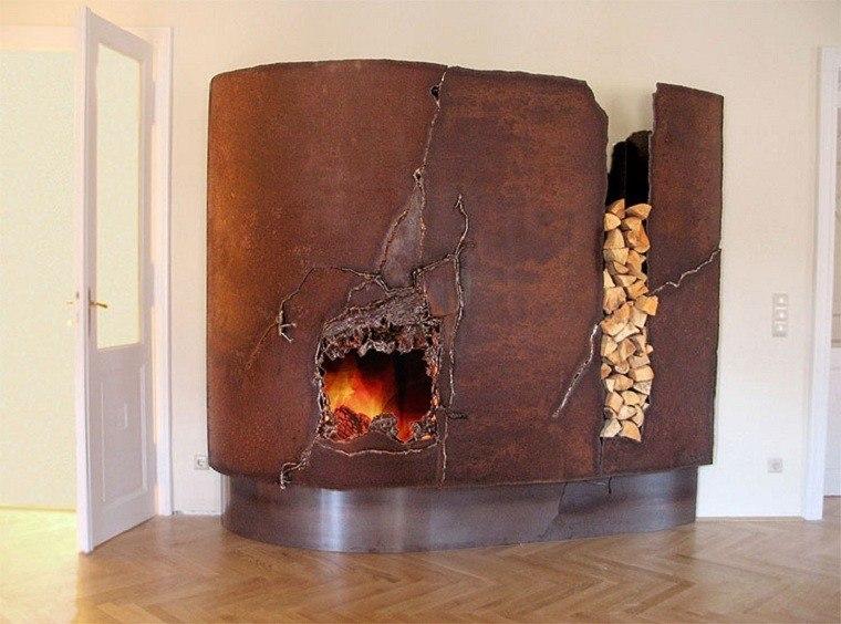 cotemporaneo metala acero diseño fuego