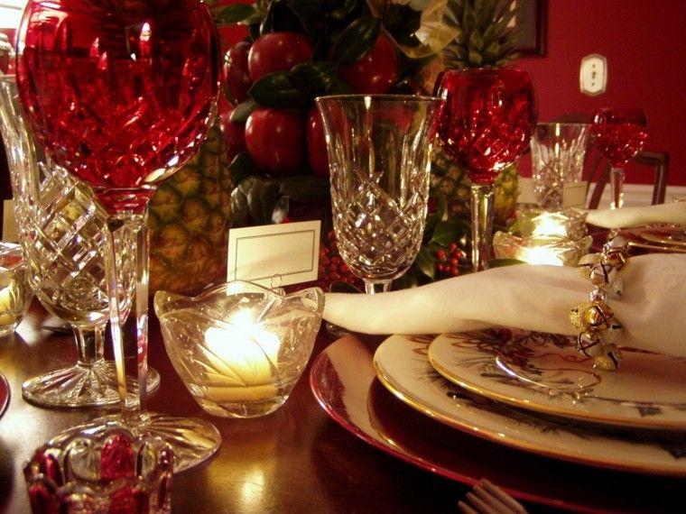 cristalería roja decoración navidad
