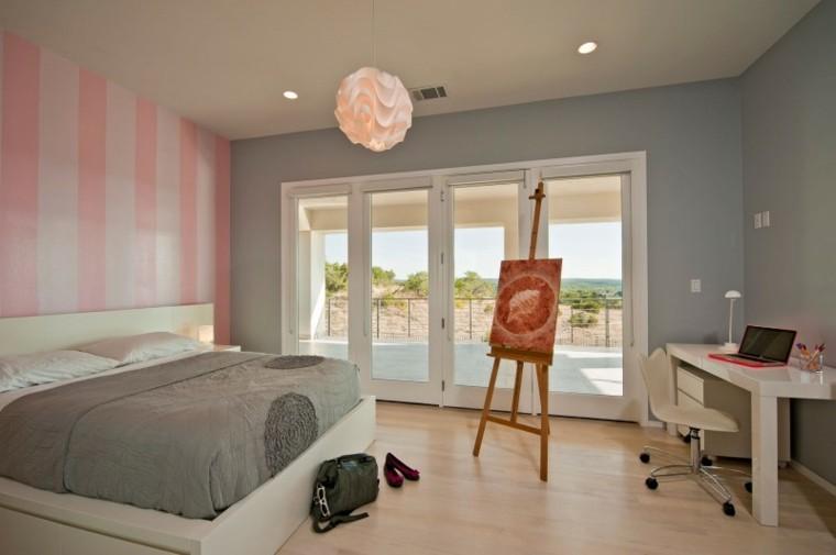 cuadro tripode estilo ventana rosa