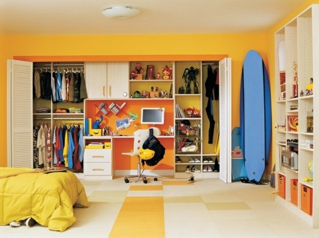 cuarto color amarillo tabla surf
