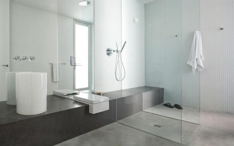 cuarto baño suelo cemento