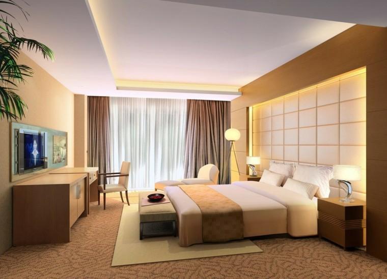 dormitorio moderno techo escalonado