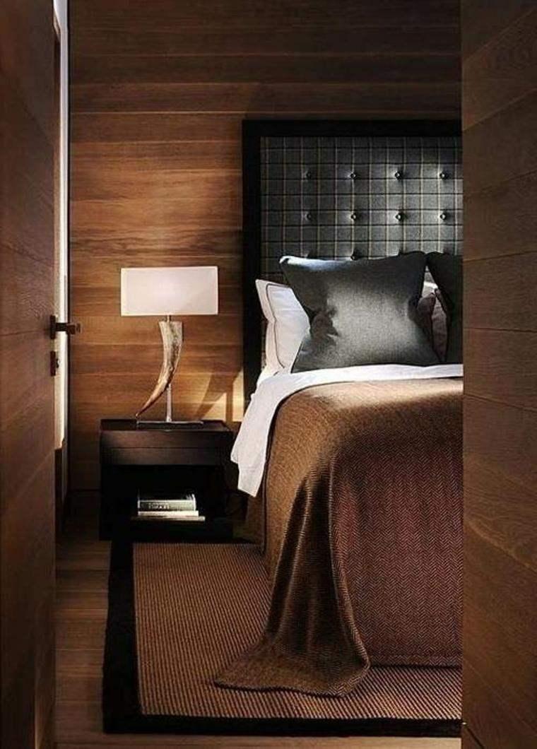 Dormitorios de matrimonio de colores oscuros 50 ideas for Habitacion madera